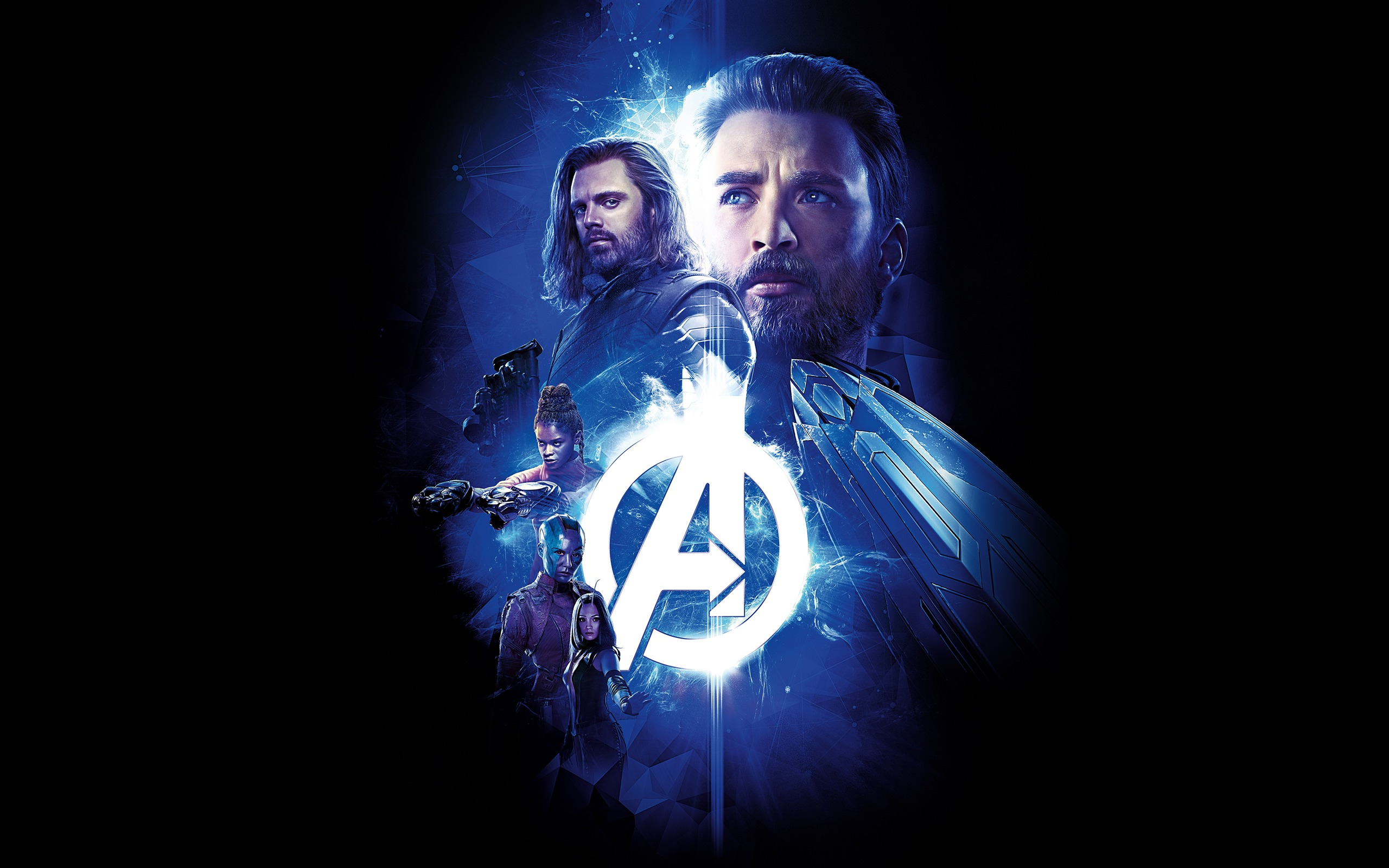 Avengers Infinity War 2018 Blue Theme Poster Preview 10wallpaper Com