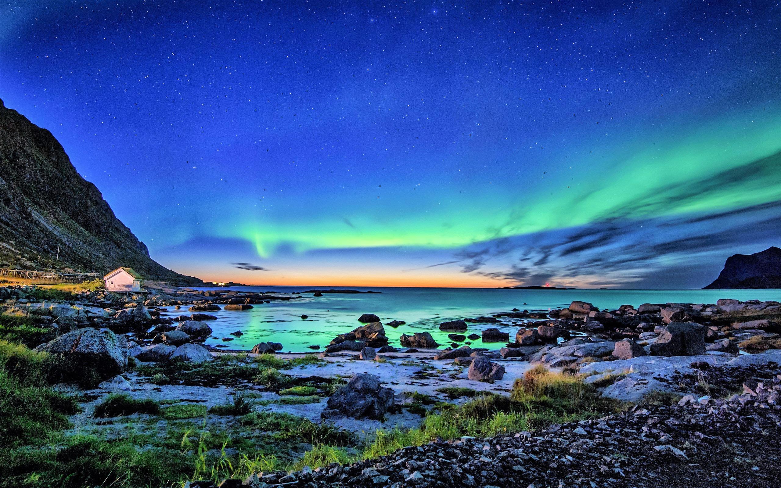 Aurora Borealis Coastline 2019 Nature Scenery Photo ...