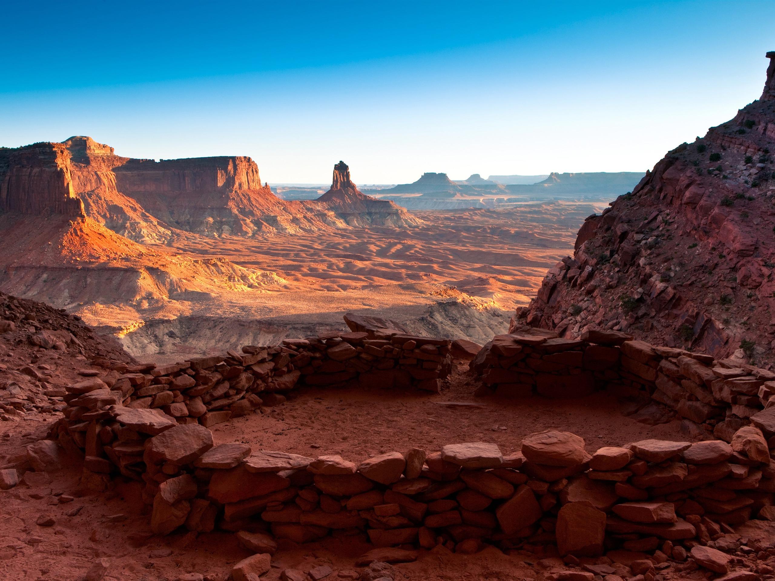 Calendar Hd : Utah parc national de canyonlands kiva cercle pierre
