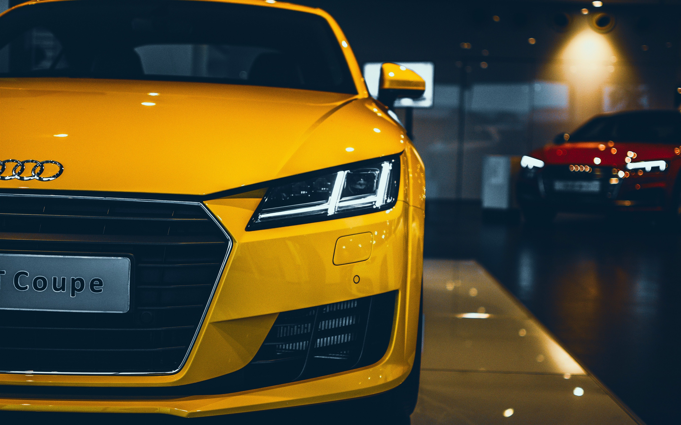 2018 Yellow Series Audi Car Lights Closeup Preview