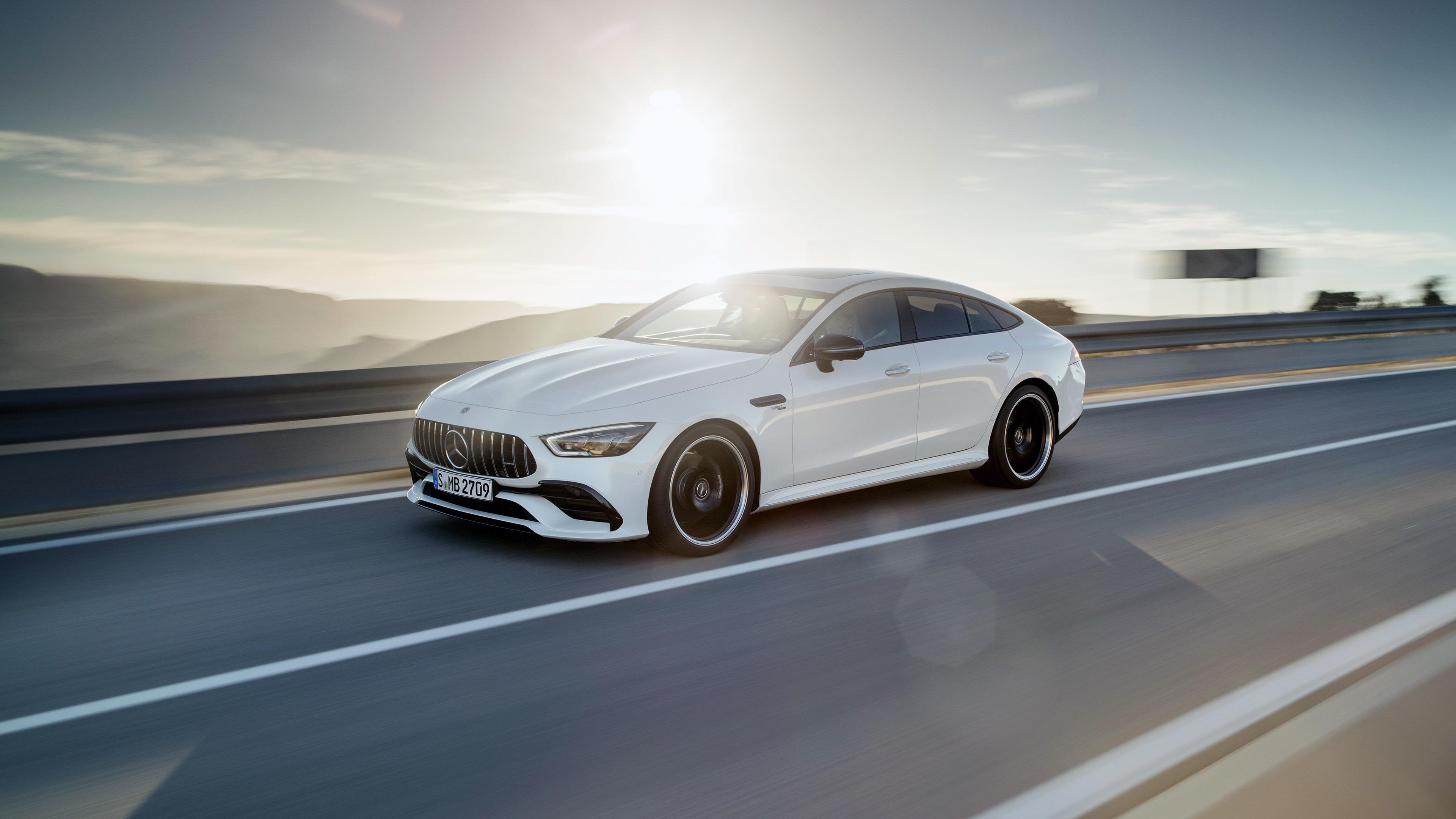 2019,梅赛德斯 - 奔驰,AMG GT 43,白,照片预览 | 10wallpaper.com