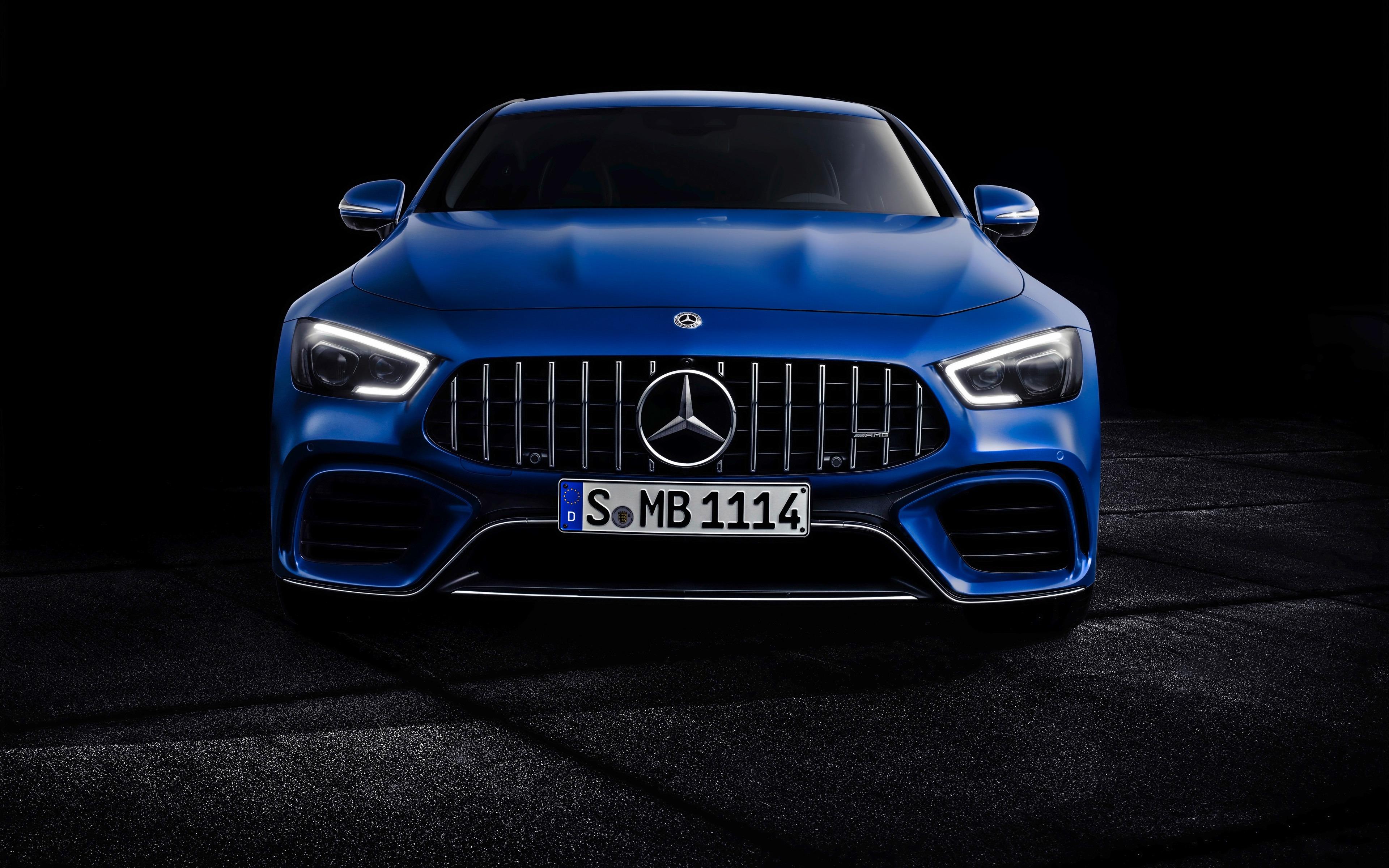 2019 Mercedes Amg Brillant Bleu 4k Hd Apercu 10wallpaper Com
