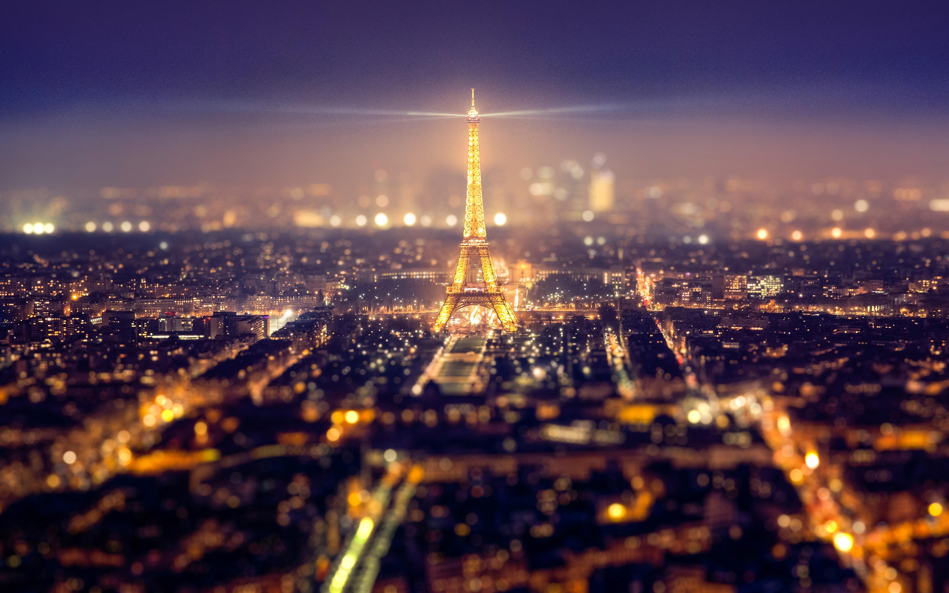 Paris France Landmark Eiffel Tower Night View Preview 10wallpaper Com