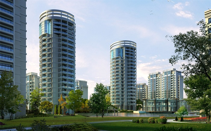 3D Architectural Rendering of Residential Buildings 02 Views:6187