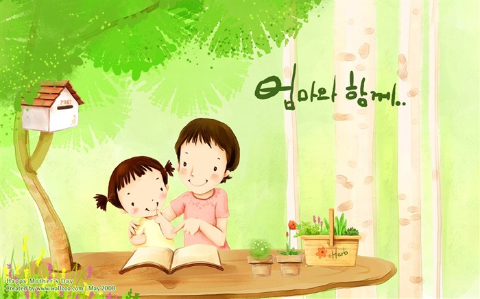 HD Childrens illustration of Mother Day and Family Love Views:42024