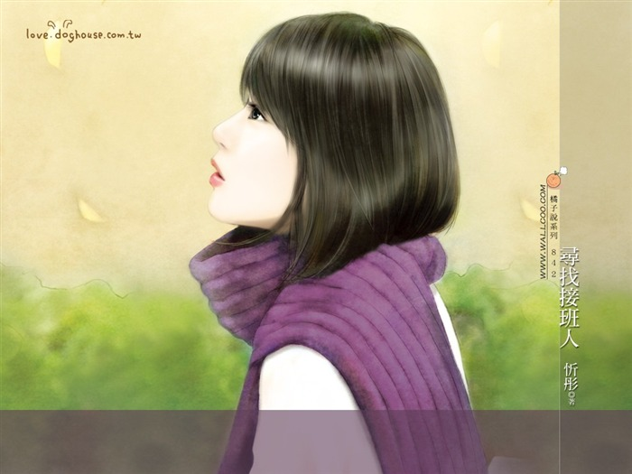 Beautiful Illustrations of Sweet Tender Girls Views:4266