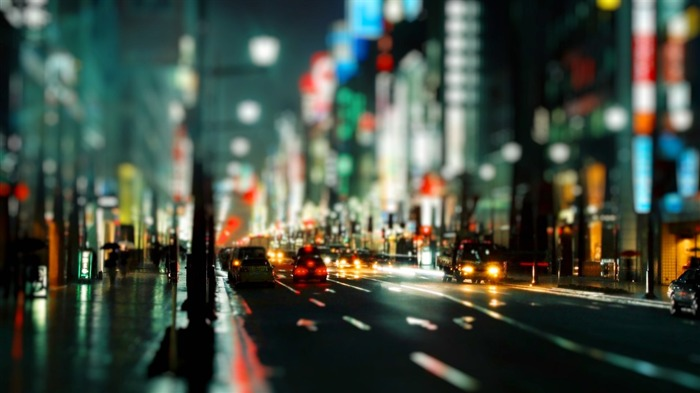 City street night wallpaper Views:39045