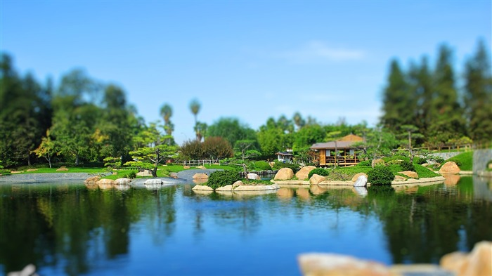 Japanese garden shift photography wallpaper Views:17799