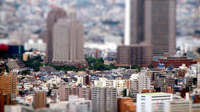 Miniature urban shift photography wallpaper Views:5191