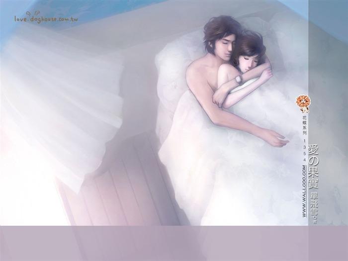 Romance Book Cover Vector ~ Romantic couple beautiful illustrations on romance novel