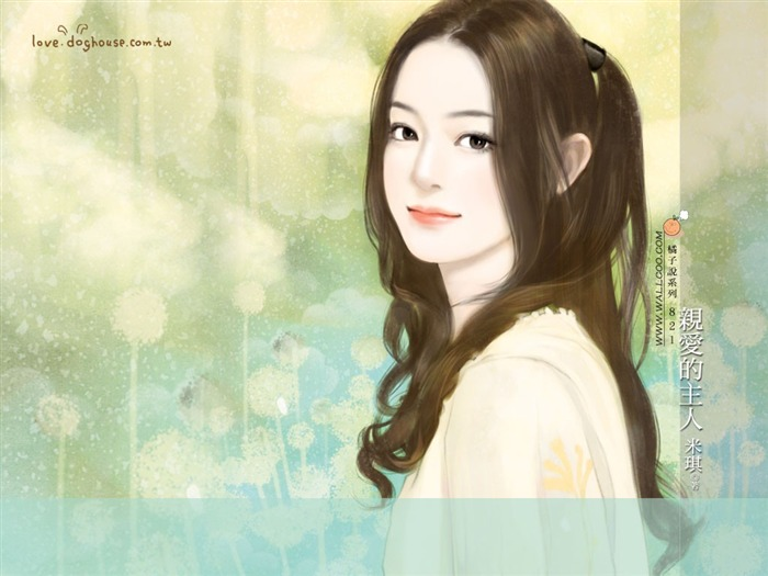 Romantic Illustrations of Sweet Girls in Soft Pastel colors Views:5904