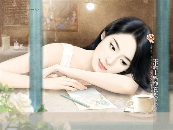 Romantic Illustrations of Young Girls in Soft Pastel colors Views:6036 Date:5/31/2011 11:29:22 PM