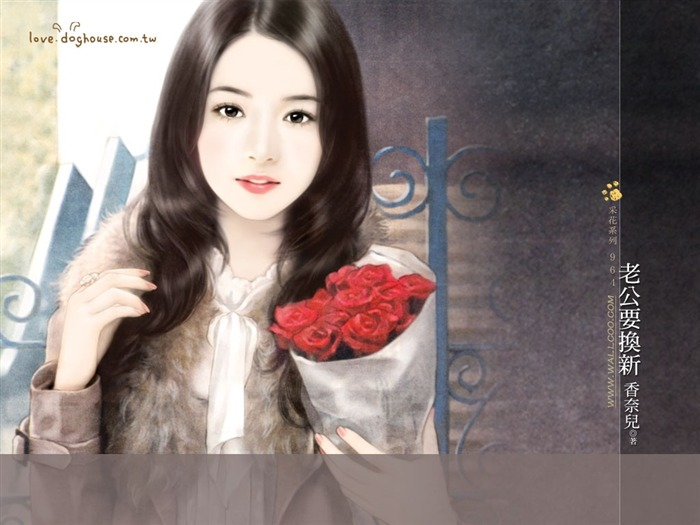 Rose Girl Painting of Beautiful Girls on Romance Novel Covers Views:9088 Date:5/31/2011 11:30:27 PM