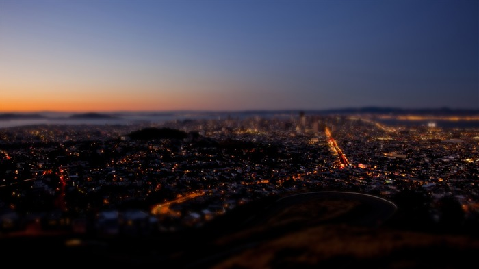 San Francisco Twin Peaks shift photography wallpaper Views:7107
