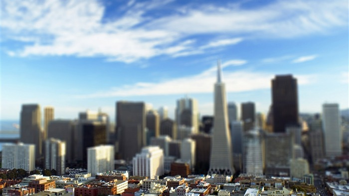 San Francisco shift lens photography wallpaper Views:6715