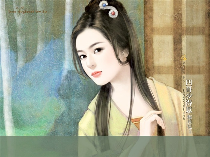 Sweet Girl Illustrations - Beautiful Chinese Girl in Ancient Costume Views:13247