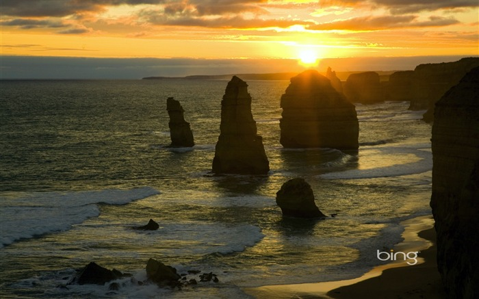 Australia Twelve Apostles Port Campbell stone wallpaper Views:9912 Date:6/20/2011 11:15:36 PM