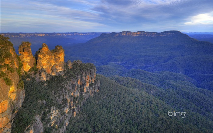 Australias Blue Mountains National Park Three Sisters rock wallpaper Views:14584 Date:6/20/2011 11:18:01 PM
