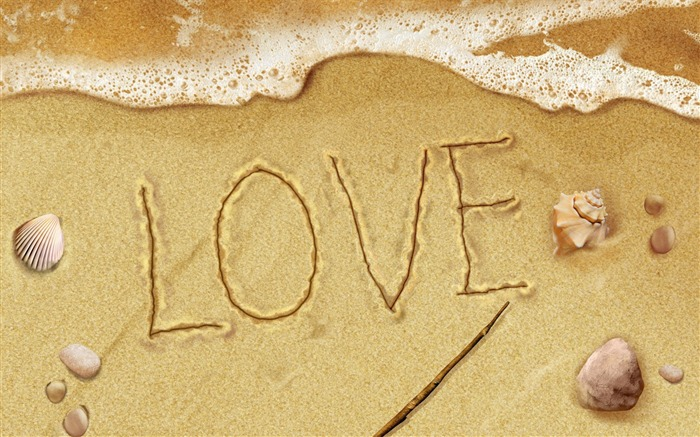 Creative Design-Love Letters on the Beach Views:7955
