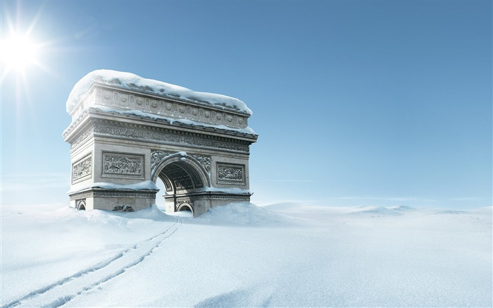 Inspiring advertising designs Triumphal arch in snow Views:10462