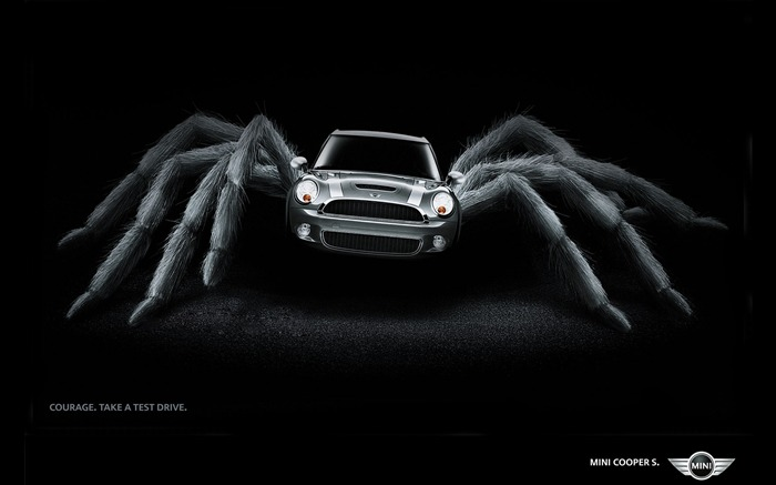 Mini Cooper Spider - Mini Cooper Print Advertisement Views:20616