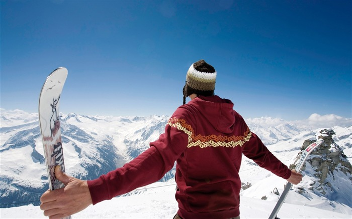 On the Top on the Mountain - Alps Winter Vacation Views:8208