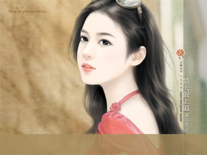 Sweet Charming Faces Angelic Sweet Girl Paintings Wallpaper Views:14836