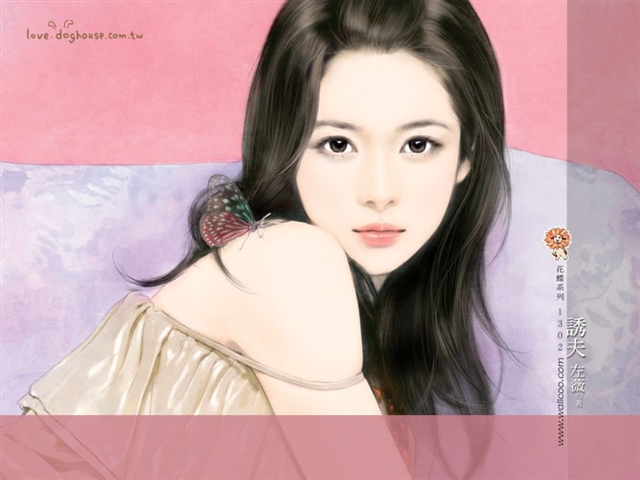 Sweet Charming Faces Sweet Girls Paintings Wallpaper4 Views:4777