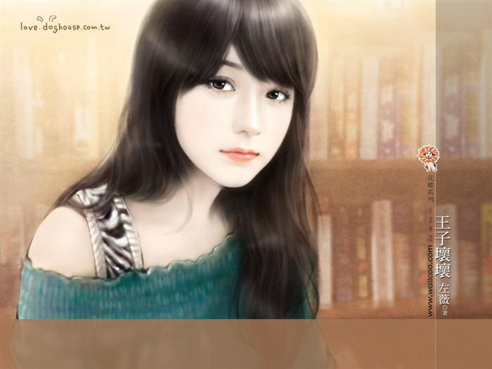 Sweet Charming Faces Sweet Girls Paintings of Romance Novel Covers5 Views:4558