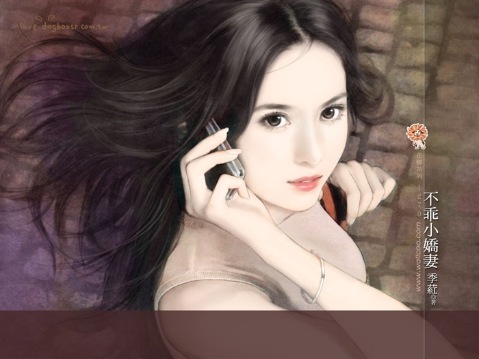 Sweet Charming Faces Sweet Girls Paintings of Romance Novel Covers7 Views:3463