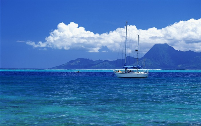 Tahiti Yacht Wallpaper Views:23092
