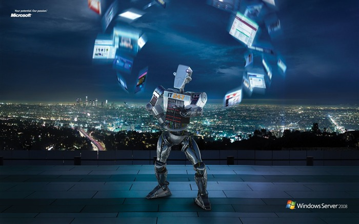 Windows Server 2008 IT 24-7 Robot Advertising Wallpapers Views:10928