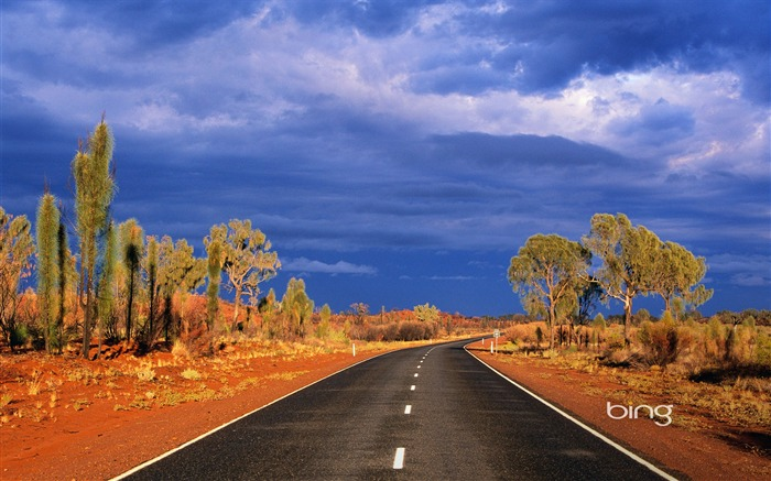 across the red desert of Australia Lasseter Highway wallpaper Views:27836 Date:6/20/2011 11:14:23 PM