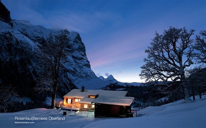 Switzerland Winter snow and ice tour features wallpaper Views:10205