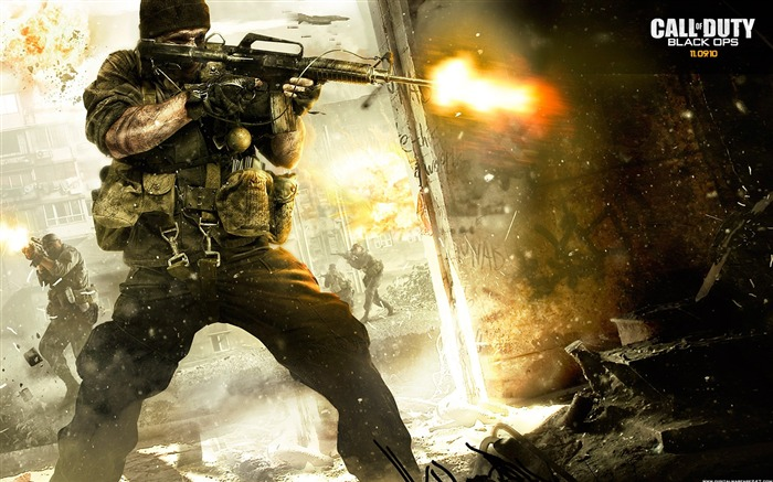 Call of Duty-7 Black Ops Jeux HD Wallpapers-Trois séries  Vues:13904