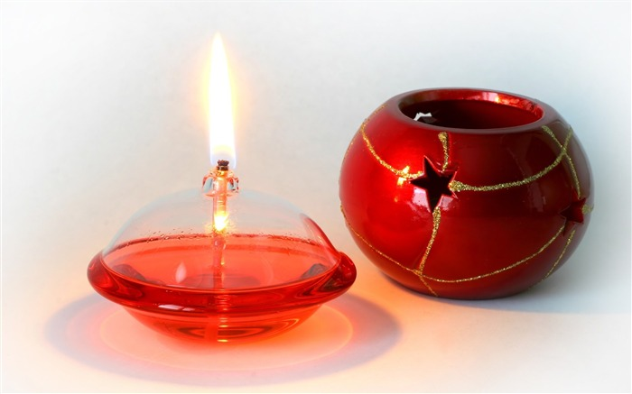 Christmas Candle Picture - Christmas Lit Candel Views:10404
