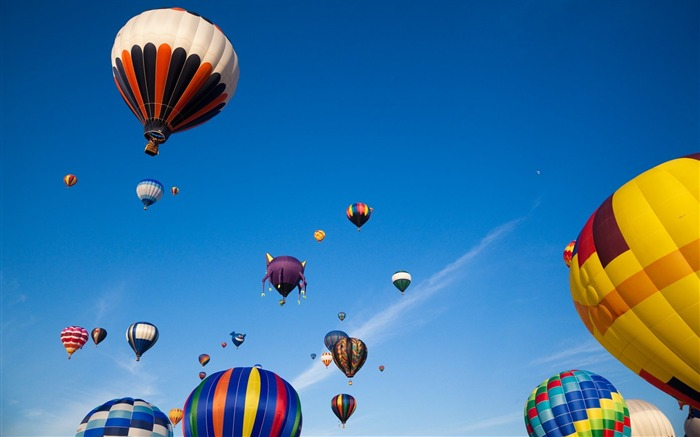 Colorful hot air balloons in sky 01 Views:7091
