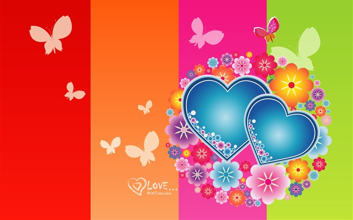 Elated - Valentines Day heart-shaped design wallpaper Views:13716
