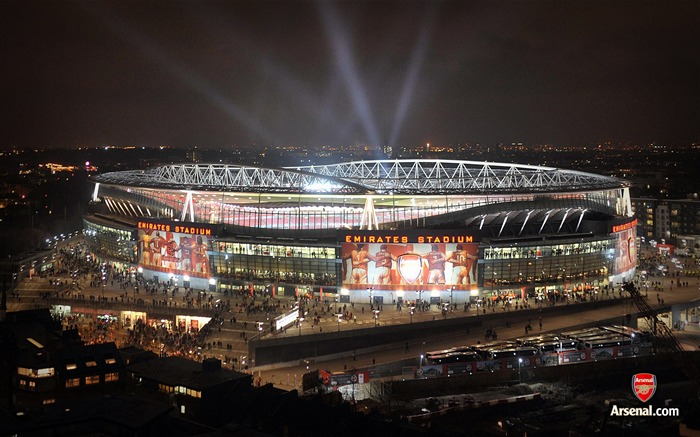 Emirates Stadium light show wallpaper Views:33211 Date:7/11/2011 7:20:50 AM