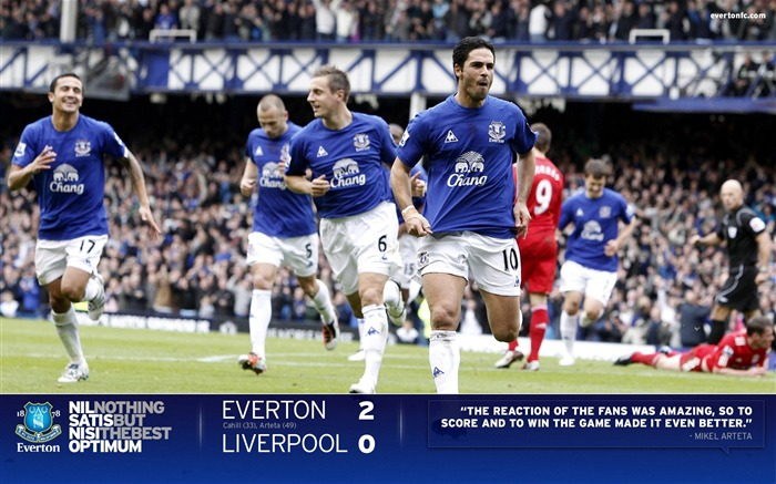 Premier League - Everton 2010-11 season Wallpaper Views:10295