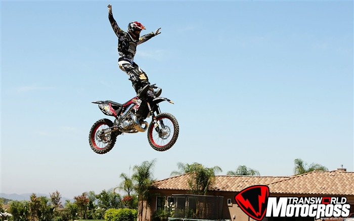 FMX motocross stunt fancy wallpaper Views:26542