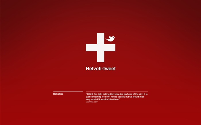 Helveti-tweet wallpaper Views:5777