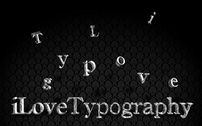 I Love Typography Wallpaper 02 Views:5107