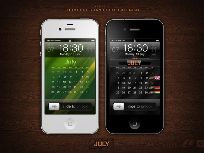 July 2011 Calendar Wallpaper second series Views:7244