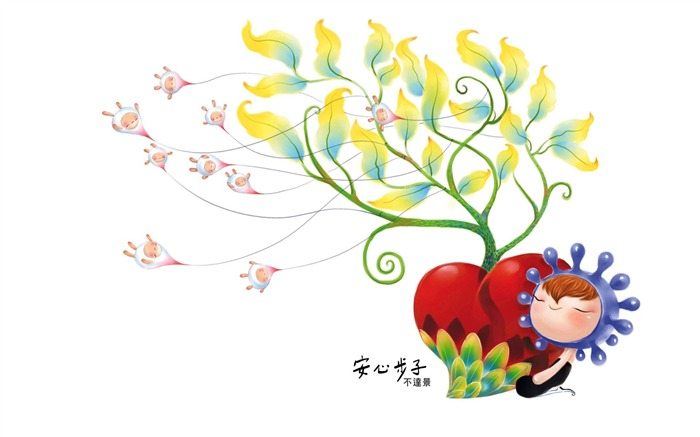 King of Taiwan is not beautiful illustrator illustrator wallpaper - ease the pace 04 Views:6546