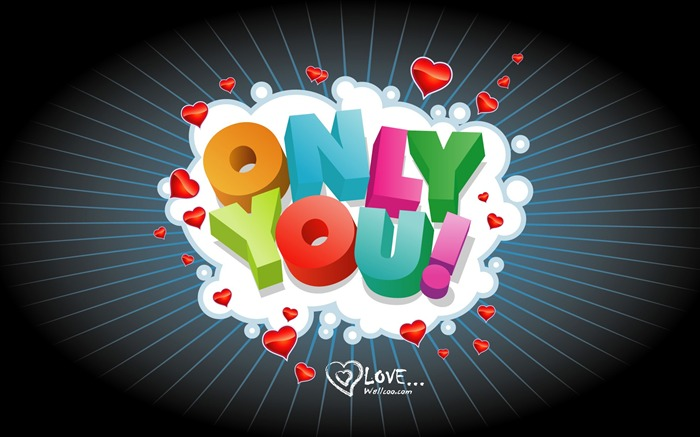 Only You - Valentines Day wallpaper illustration design Views:4399