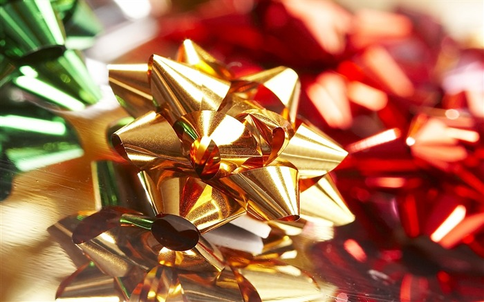 Picture- Christmas Bow Gift Bows Wallpaper Views:10965