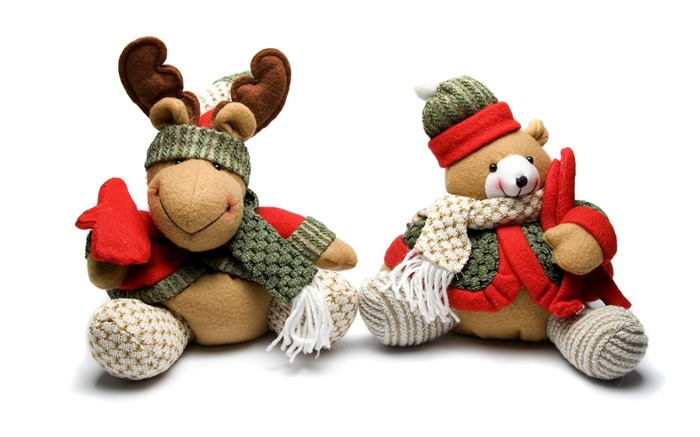 Picture- Christmas Toy - Teddy bear and reindeer Views:12655