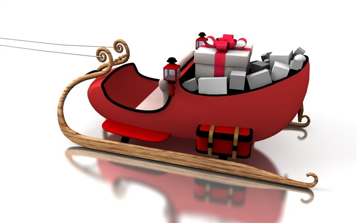 Picture- Christmas Toy Sleigh- Chritmas objects and Element Views:30378
