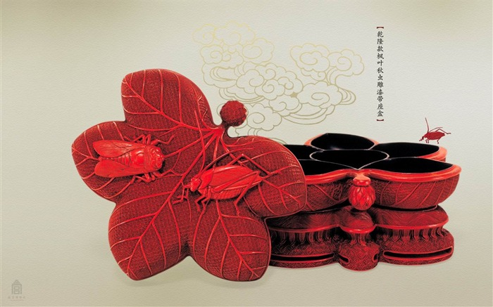 Qianlong section seat box with lacquered Maple Leaf wallpaper Qiuchong Views:4229